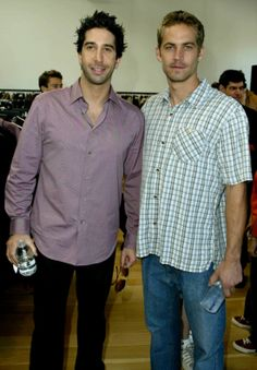 Paul Walker and David Schwimmer at a charity shopping event in LA November 2003