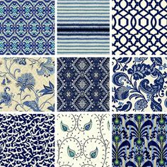 Indigo blue and white fabrics Blue And White Fabric, Blue And White China, White Fabrics, Blue Fabric, Navy And White, Navy Blue, Textures Patterns, Fabric Patterns, Blue Mosaic