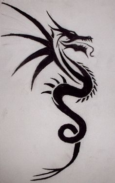 Tribal Dragon tattoo by xx-angel-of-deth-xx on DeviantArt Home Tattoo, Tattoo Diy, Tattoo Ideas, Tribal Dragon Tattoos, Dragon Tattoo Designs, Life Tattoos, Body Art Tattoos, Dragon Tattoo Simple, Deviantart Tattoo