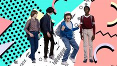 Noah Schnapp, Finn Wolfhard, Gaten Matarazzo, and Caleb McLaughlin
