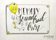 53 vind-ik-leuks, 4 reacties - Krougie Creatief (@krougiecreatief) op Instagram: '- Each memory has a soundtrack of its own - . . Dag 6/30 juni #dutchlettering…'