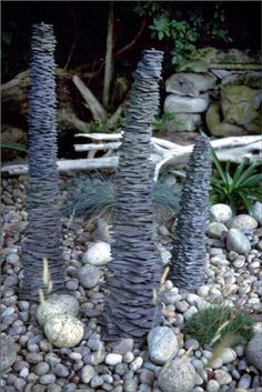 Slate sculptures - would be great in the garden