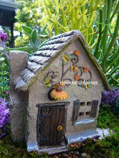 Miniature Sunflower Farm Fairy House Faerie Gnome Hobbit Garden in Outdoor | eBay