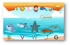 Al acercarnos al mar nos encontraremos con Bea la ballena o con Víctor el tiburón que estarán encantados de enseñarnos alguna característica de la letra de su nombre.