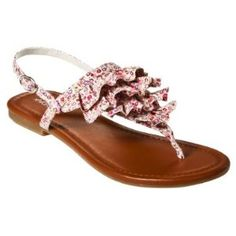 Women's Xhilaration® Thierry Ruffle Flat Sandals - Floral review | buy, shop with friends, sale | Kaboodle