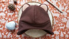Brown bear hat for kids- by wildimagionationshop on etsy