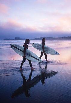 Long beach, Tofino. Pacific Rim National Park. Vancouver Island Canada.