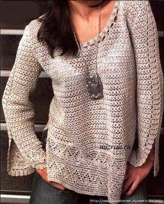 Lindo suéter para todas las ocasiones -kryuchkom. Discusión sobre LiveInternet…