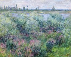 Banks of the Seine at Vetheuil by Claude Monet