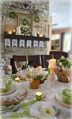 Dining Delight: Spring Green Easter Tablescape