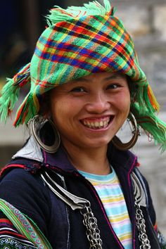 """""""Sapa in a cloud"""" Festival, Vietnam--Photo by Bertrand Linet.  What a smile!"""