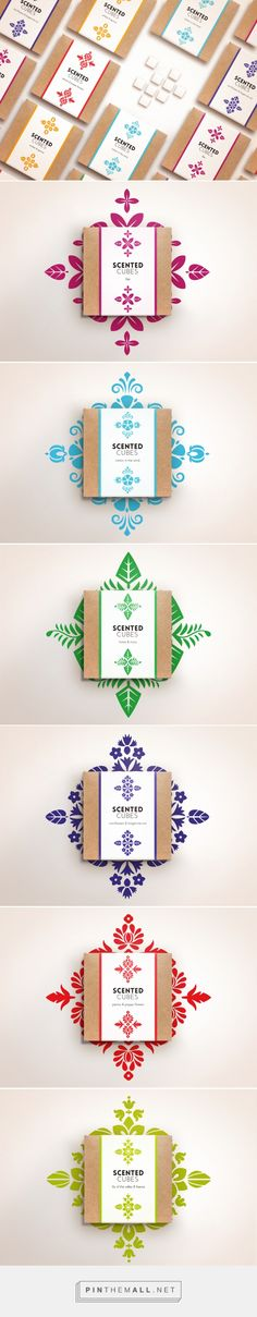 Scented Cubes by Joanna Szekalska. Source: Behance. PIn curated by #SFields99 #packaging #design #inspiration #cardboard #box #label