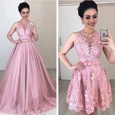 A imagem pode conter: 2 pessoas pessoas em pé v Pink Formal Dresses, Bridal Dresses, Bridesmaid Dresses, Prom Dresses, Blush Evening Gown, Evening Dresses, Pulls, Marie, Ball Gowns