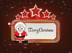Neon Sign With Santa Vector Illustration Merry Christmas Everyone, A Christmas Story, Diy Christmas Gifts, Christmas Holidays, Christmas Decorations, Christmas Ornaments, Holiday Decor, Happy Birthday Me, Vector Art