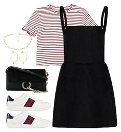 """""""Untitled #4152"""" by magsmccray on Polyvore featuring Chloé, Yvonne Léon and Gucci"""