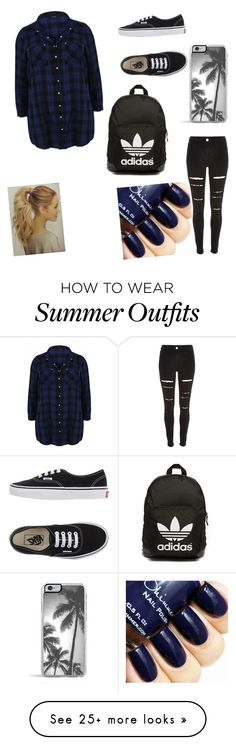 """""""My First Polyvore Outfit"""" by laura-tomlinson-i on Polyvore featuring Vans, Zero Gravity, River Island, adidas Originals, women's clothing, women's fashion, women, female, woman and misses"""