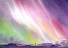 Northern Lights picture from orcadian artist