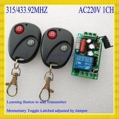 220 V CA 10A Relé Receptor Transmisor de La Lámpara Led Remoto Interruptor de Control de Potencia Inalámbrica ON OFF Interruptor de Llave de Bloqueo y Desbloqueo 315433