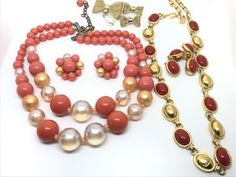 LOT OF COSTUME JEWELRY SETS INCLUDING A NECKLACE AND EARRING SET BY LIZ CLAIBORNE.