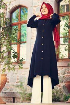 Pınar Şems'in Laciver Kap'ı. Tesettür Kap Modelleri bir harika