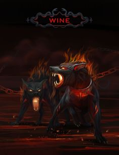 Hounds of Hell - Halloween October 2015 Portfolio Covers, Wine Art, All Art, Cover Art, October, Halloween, Artist, Artwork, Fictional Characters