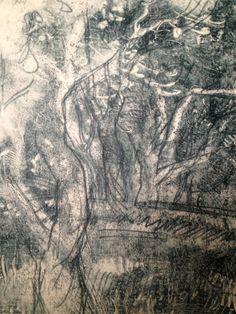 Bay Lees- monoprint  trees