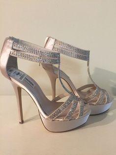 Women's Steve Madden high heel blush with crystals stiletto size 6