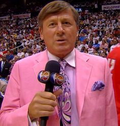 Craig Sager pink. Miss you during NBA playoff's.!