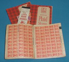 A's plaid stamp, trading stamps