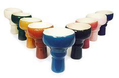 Chinese Porcelain Hookah Bowl Standard Egyptian Style - SouthSmoke.com