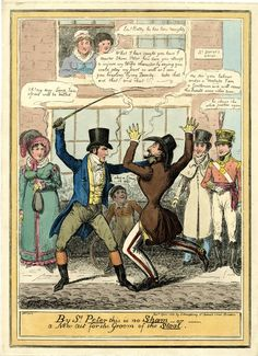 © The Trustees of the British Museum  By St Peter this is no Sham - or - a new cut for the groom of the stool. April 1821  Hand-coloured etching by Isaac Robert Cruikshank  #Petersham