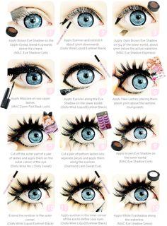 Gyaru Circle Lenses.  As seen on famous false eyelashes and winged eyeliner! Shop Authentic circle lenses & doll-eye color contacts at EyeCandy's. #eyecandys