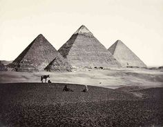 Oldest known photo of the Pyramids at Giza- Egypt c.1859 - Photo Art Print -Reproduction