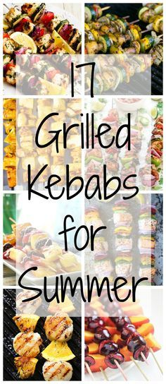 17 Grilled Kabobs for Summer - there are so many amazing grilling options here that I think we should eat food on a stick all summer long! Best Picture For grilling dentes For Your Tas Kabob Recipes, Barbecue Recipes, Grilling Recipes, Cooking Recipes, Grilling Ideas, Coctails Recipes, Paleo Recipes, Antipasto, Kebabs On The Grill