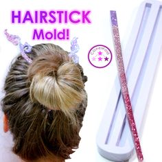Excited to share the latest addition to my #etsy shop: Hair Stick Mold; Chop Stick Style Hair Pin / Hair Fork /  Hairstick Silicone Rubber Mold #supplies #hatmakinghaircrafts #siliconerubbermold #jewelrymold #concretemold #resinmold #hairstick #hairstickmold #resinhairstick #clonemold