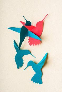 3d Hummingbird Art 3D Bird Wall Art Wall Birds Set | Etsy Bird Nursery, Nursery Decor, Hummingbird Flowers, Grandma Birthday, Arts And Crafts, Paper Crafts, Bird Wall Art, Tropical Birds, Art 3d