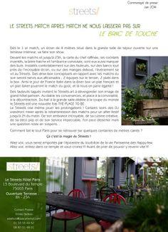 La Coupe du Monde 2014 c'est au Streets Hotel à Paris dès ce Jeudi 12 Juin! Soyez au RDV!