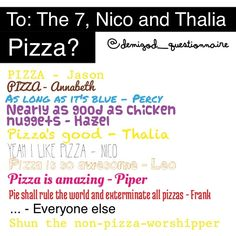 Non-pizza worshiper... Ha. Obviously they don't worship it because they eat it.
