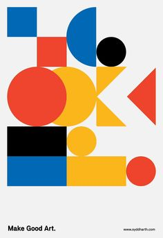 "choco-joint: ""Make Good Art. (OK?) motion study poster - 01 """