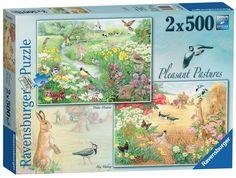 Ravensburger Pleasant Pastures, 2x 500pc Jigsaw Puzzle: Amazon.co.uk: Toys & Games