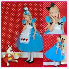 This whimsical Alice tutu dress costume was inspired by Alice's extraordinary adventure's in Wonderland. This tutu dress has a matching Teacup mini top hat or black bow headband that is not included, but available for puchase below. Costume Halloween, Alice Halloween, Halloween Kids, Alice Costume, Alice In Wonderland Birthday, Alice In Wonderland Tea Party, Mad Hatter Party, Tutu Costumes, Halloween Disfraces
