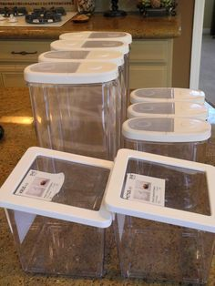 bins for organizing pantry | BPA free Ikea containers for storage.