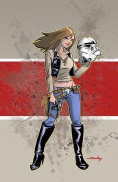 Han Solo Gender Bender by SachaLefebvre.deviantart.com on @deviantART