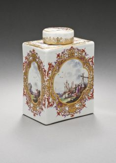 Meissen Porcelain Manufactory Tea Caddy by Johann Gregor Heroldt (Germany, 1696-1775) - Germany, circa 1735
