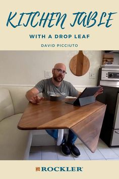 In this video, David Picciuto makes a simple looking, but challenging drop-leaf kitchen table. Watch the full build here! #CreateWithConfidence #DavidPicciuto #MakeSomething #WoodworkingVideo #KitchenUpgrade Woodworking Videos, Woodworking Plans, Woodworking Projects, Drop Leaf Table, Kitchen Upgrades, Leaves, How To Plan, Simple, Wood Effect Worktops