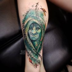 Grandmother Willow Tattoo by Russell Van Schaick Wolf Tattoos, Finger Tattoos, Native Tattoos, Leg Tattoos, Body Art Tattoos, Tatoos, Disney Tattoos Pocahontas, Disney Princess Tattoo, Tattoo Disney