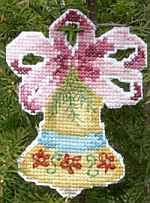 Free Cross Stitch Patterns: Festive Christmas Bell Ornament