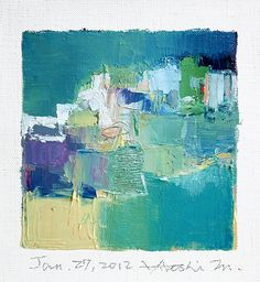 Jan 27 2012  Original Abstract Oil Painting  by hiroshimatsumoto