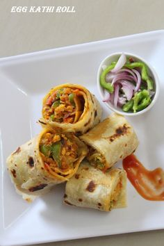 Kathi roll recipe here is a roll recipe in which the kathi roll is stuffed with a delicious egg filling which is a mouth watering filling and goes perfectly with the rolls. #rolls #snacks #egg