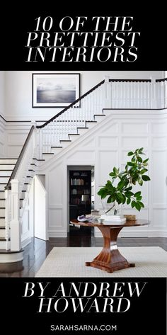 Grand staircase open to Great Room. 10 of the Prettiest Interiors by Andrew Howard Door Redo, Entry Hallway, Entryway, Beautiful Stairs, Interior Decorating, Interior Design, Grand Staircase, Foyers, Traditional House